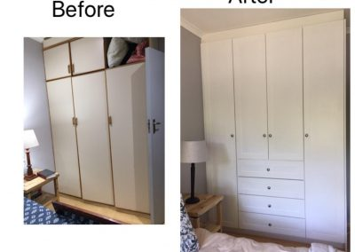 Bedroom Cupboards Before and After
